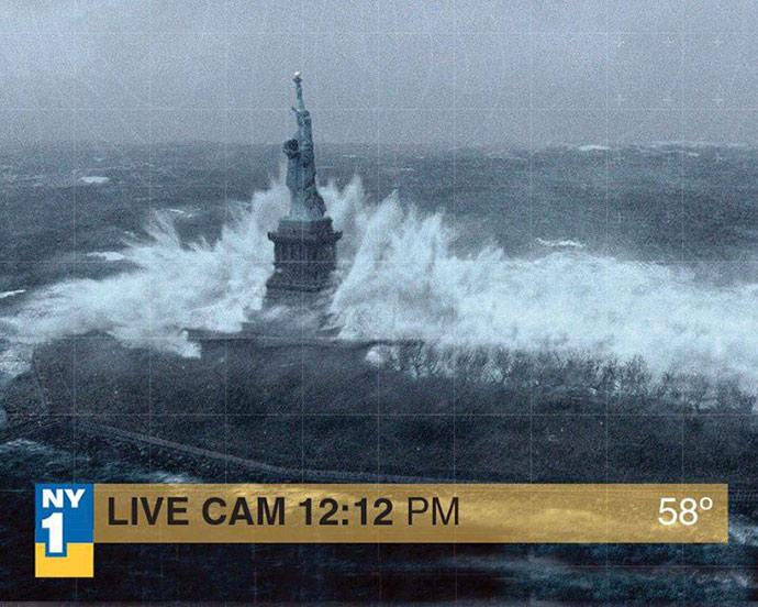 News of Hurricane Sandy straight from New York